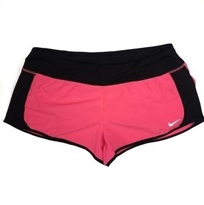 Nike Dri-Fit Active Shorts Neon Pink and Black